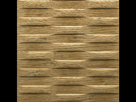 Motion || - Wave - Horizontal - Natural - Red - Oak